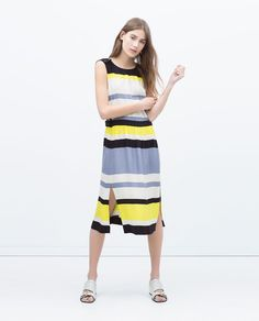 VESTITO A RIGHE di Zara, ora a euro 29,99  C'factor choice sale 2015.