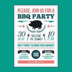 Barbecue picnic poster