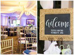Canyon Oaks Country Club wedding reception decor