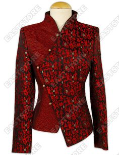 Red Brocade jacket for inspiration