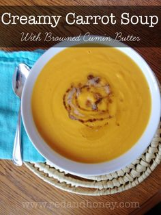 Creamy Carrot Soup recipe. This easy, healthy, creamy carrot soup is ...