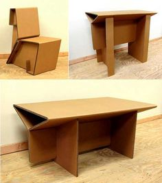 creative furniture Recycling Cardboard for Contemporary Furniture, Design Ideas from Chairigami Cardboard Chair, Diy Cardboard Furniture, Cardboard Design, Paper Furniture, Recycled Furniture, Retro Furniture, Furniture Design, Furniture Ideas, Cardboard Recycling