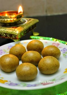 Besan Ladoo - an Indian sweet made with gram flour, loads of ghee and sugar :)