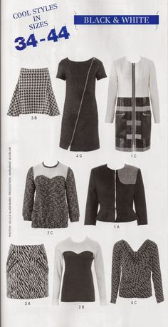 All Styles at a Glance Burda Style Easy Fall 2014