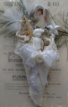 White Vintage Christmas Ideas 25