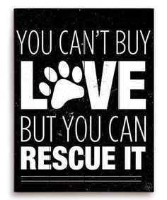 Look at this #zulilyfind! Black 'You Can't Buy Love' Wall Art #zulilyfinds #dogquotes