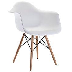 Teresa Dining Chair White - Modern Dining Furniture - Sleek Modern Furniture