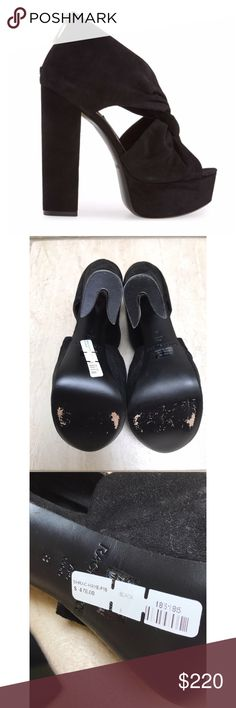 171b0d5c3 NWT Rachel Zoe Black Hayes Platform Sandal Twisted straps add eye-catching  elegance to a
