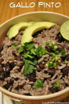 Nicaraguan Gallo Pinto (Black Beans and Rice)