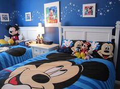 Mickey Mouse bedroom in blue for nursery