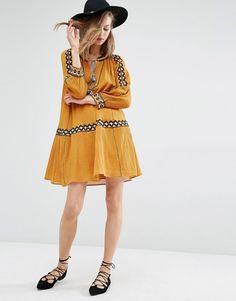 Ba&sh Salma Embroidered Folk Dress