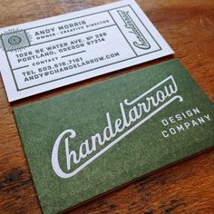 Cards for Chandelarrow great design going on here #letterpressportland