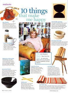 Madeline Weinrib Coral Cabana Stripe Cotton Carpet, 10 Things that Make Joan Bingham Happy, via Domino Magazine