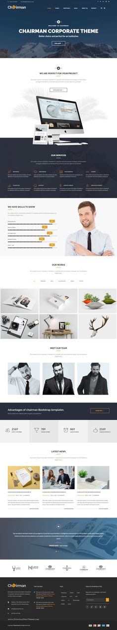 Chairman Multipurpose Bootstrap HTML5 Template is a responsive, clean and modern designed #corporate #website #template.