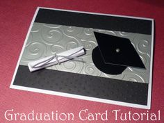 Handmade graduation card tutorial for whenever my family members are graduating :) **Use metal to emboss Graduation Cards Handmade, Graduation Diy, Graduation Invitations, Cute Cards, Diy Cards, Stampin Up, Congratulations Graduate, Congrats Cards, Greeting Cards