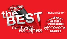 25 nominees for Best Tourist Town in the Northwest Washington area. Nominees like Coupeville, WA, Kingston, WA, Westport