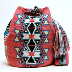 Wayuu Boho Bags with Crochet Patterns - shoulder bag, bag collection, lady bags and purse *ad