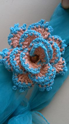 Crochet flower - just the picture.  Pretty.