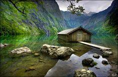 Boat House, Berchtesgaden National Park, Germany photo via cari