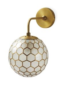 Shop the full lighting collection by Serena & Lily today & discover fabulous lighting for every room in your home, including visual comfort lighting & pendants. Brass Sconce, Painting Frames, Honeycomb, Home Design, Interior Design, Antique Gold, Wall Sconces, Diffuser, Wall Lights