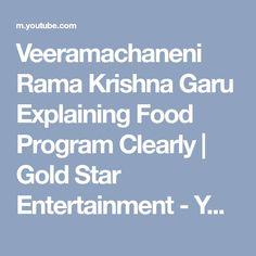 Veeramachaneni Rama Krishna Garu Explaining Food Program Clearly   Gold Star Entertainment - YouTube