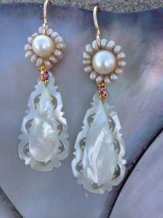 Tehani By: Haili MOP Shell Earrings.