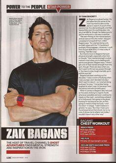 Zak Bagans work out