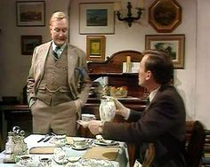 Siegfried Farnon and James Herriot (portrayed by Robert Hardy and Christopher Timothy) in 'All Creatures Great & Small'