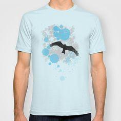 Bird in the Rain T-shirt by Denis Marsili - $18.00