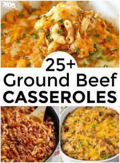 Serve up a tasty dinner or two with these delicious hamburger meat casserole recipes! I've found over 25 easy and delicious hamburger meat casserole recipes! These casseroles feature lots of my family's favorite ingredients and they cook up big enough to Quick Hamburger, Dinner Ideas Hamburger Meat, Hamburger Meat Recipes Ground, Hamburger Meat Casseroles, Healthy Casserole Recipes, Meat Recipes For Dinner, Healthy Meat Recipes, Cooking Recipes, Hamburger Casserole