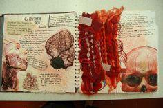 Stella Bentley DHSFG A Level Art Sketchbook, Sketchbook Layout, Textiles Sketchbook, Arte Sketchbook, Sketchbook Inspiration, A Level Textiles, Art Alevel, Anatomy Art, Art Portfolio