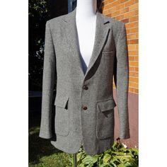 Vintage Boyfriend Blazer by Lord n Taylor, Wool, Oversized, 3 Pockets, Partially lined, 80s, Shoulder Pads, by Have2Shop on Etsy