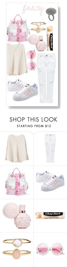 """""""fancy"""" by mimi1324 ❤ liked on Polyvore featuring MANGO, Edit, adidas Originals, Chapstick, Accessorize and ZeroUV"""