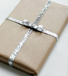 Elegant but simple wrapping.
