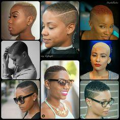 Slay! Short Black Natural Hairstyles, Black Girls Hairstyles, Short Hairstyles For Women, Natural Hair Styles, Big Chop Hairstyles, Cool Easy Hairstyles, Undercut Hairstyles, Short Hair Undercut, Short Hair Cuts