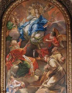 Altar of Immaculate Conception painting by Bianchi, 1740 | St Peter's Basilica | Vatican City