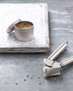 If you don't have a mortar and pestle, you can use your garlic press to crack seeds like coriander, cumin, and peppercorns.