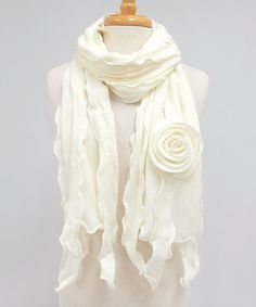Dress with the best of them in breeze-busting style with this fine scarf. Falling ruffles enhance a textured look, while the rosebud appliqué is utterly divine. Cool Outfits, Fashion Outfits, Womens Fashion, Ladies Fashion, Sparkle Shoes, Clothes Crafts, Ruffle Trim, Ruffles, Rose Buds