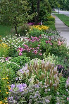 Bird Bath Garden, Garden Art, Cottage Garden Design, Cottage Garden Plants, Small Cottage Garden Ideas, Xeriscaping, Front Yard Landscaping, Landscaping Plants, Front Yard Fence Ideas