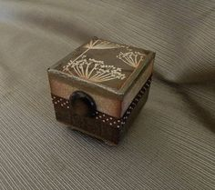 Jewelry box altered art - re gifting box - treasure box - presentation box - altered box nature inspired earthy. $20.00, via Etsy.