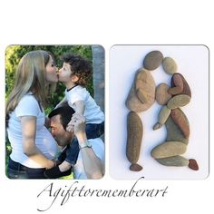 I love recreating some of our family photos with pebbles. This one is just to show you an example of my little family when i was pregnant with my little girl. #agifttorememberart #pebbleart #art #etsy #etsyseller #makersgonnamake #instaartist #craft #australia #beach #pregnant #family #love #familyoffour #instaphoto #handmade #kids