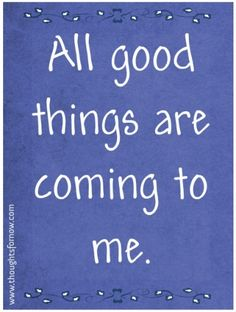 Daily Affirmations - 24 May 2013