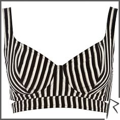 Striped bustier - retro style