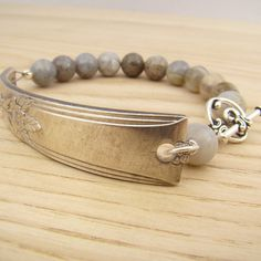Upcycled spoon handle bracelet with silver by laurelmoonjewelry, $18.00