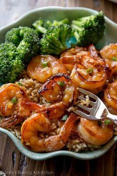 This Honey Garlic Shrimp recipe from @sallysbakeblog makes a healthy and delicious meal that's ready and on the table in just 20 minutes. Yesssss.