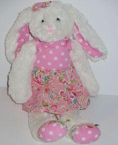 Maison Chic Plush Bunny Rabbit Pink boutique dress paisley toy stuffed animal  #MaisonChic