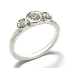 9 Carat #WhiteGold Band Set with #BrilliantCut White #Diamonds by Diana Porter http://www.fldesignerguides.co.uk/engagement-ring-designer/dianaporter