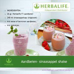 Aardbeien-sinaasappel shake recept Herbalife