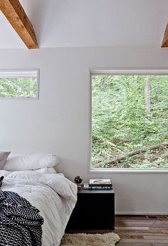 Bedroom with views