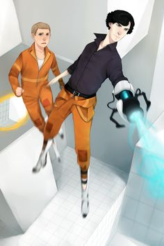 So this would mean Moriarty is GLaDOS.  And I kinda see Lestrade being Wheatley (Earth?  Not my division...) -- Sherlock and John take on Aperture Science [Portal]